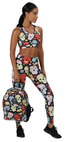 Featuring Colourful Day Of The Dead Style Skulls, Hearts And Flowers On A Dark Base, Tikiboo's Spirited Black. Mexican Skull Full-length Pants Have A Sculpting Effect On Your Legs, Glutes And Tummy. Shop The Collection Online Today! Skull Leggings, Tights, Mexican Skulls, Skull Design, Skull Print, Locker, Glutes, Drawstring Waist, Sculpting