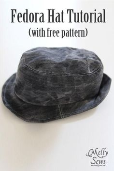 DIY fedora DIY Fedora DIY Hat DIY Refashion