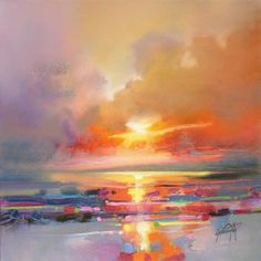 Diminuendo Sky Study 3 Scottish skyscape oil painting by Scott Naismith