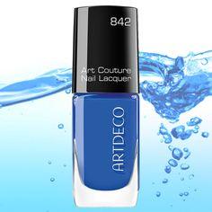 #ARTDECO Art Couture Nail Lacquer #blue #aqua #nails #nailsdesign #makeup #artdecomakeup #artdecocosmetics