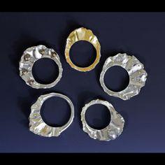 """""""Digit-al Waves 5 rings"""" by Cynthia Eid."""