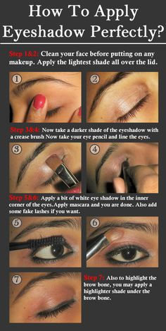 How To Apply Eyeshadow Perfectly?:  Here is the step by step tutorial for applying Eye shadow for the perfect look.