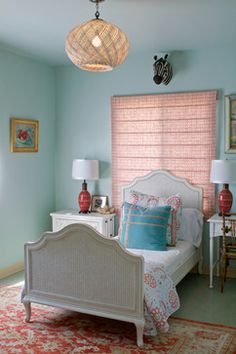 Turquoise And Red - for guest room 2  Paint: Turquoise Mist 695 by Benjamin Moore