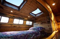 Helga: a horse box/trailer transformed into a cozy, rustic tiny house by UK-based builder, House Box! Tiny House Swoon, Small Tiny House, Tiny House Living, Tiny House Design, Tiny Houses, Small Homes, Small Living, Living Spaces, Luxury Mobile Homes