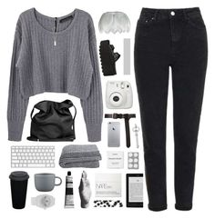 """and i gotta hit rock bottom"" by city-pool ❤ liked on Polyvore featuring Topshop, Proenza Schouler, Marc Jacobs, Ann Demeulemeester, Byredo, Fujifilm, CB2, adidas, Aesop and Harry Allen"