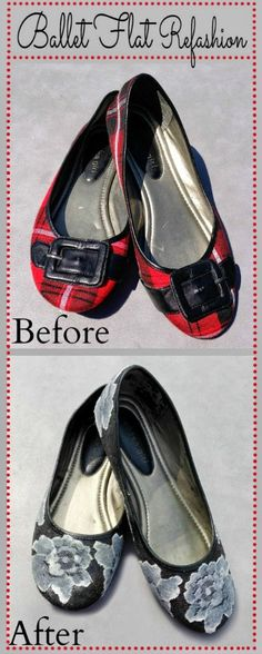 Everything Happens: Shoe Refashion, Ballet Flats Edition
