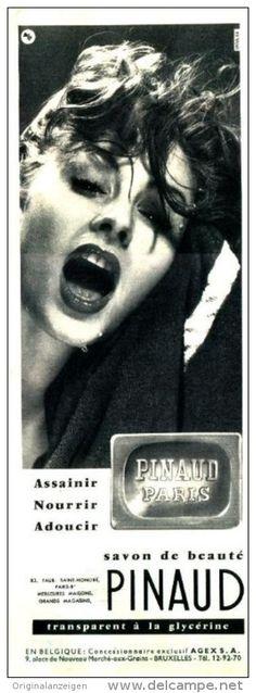 Original-Anzeige / Publicité 1957 - (en français) SAVON PINAUD - ca. 110 x 320 mm
