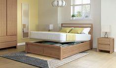 Hip Hop Bedstead 135cm * Lift Up Bed * Ash Scandi Bedroom, Bedroom Inspo, Lift Up Bed, Bed Designs With Storage, Bedding Inspiration, Wooden Bed Frames, Ottoman Bed, Buy Bed