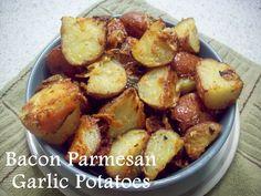 Bacon Parmesan Garlic Potatoes with Gourmet Garden