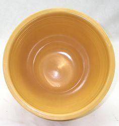 "Vintage Homer Laughlin Fiesta Ware \Original Yellow 8 1/2"" #5 Nesting Mixing Bowl"