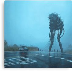 simon stålenhag's dreamy sci-fi paintings show the world after an alien invasion Arte Sci Fi, Sci Fi Art, Foto Fantasy, Fantasy Art, Arte Do Pulp Fiction, Sci Fi Kunst, Science Fiction Kunst, Alien Invasion, Arte Horror