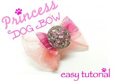 """Princess Dog Bow  - Everyone loves how cute our furry friends look with bows! The bows are adorable, and they give your pup her """"personal"""" style! You've seen your neighbor's dog walking down the street with that cute bow, and, you wonder, """"Can I make one for my dog?"""" Don't think, just start """"styling"""" beautiful #dogbows with the Bowdabra or the mini bowdabra!! Bowdabra Blog"""