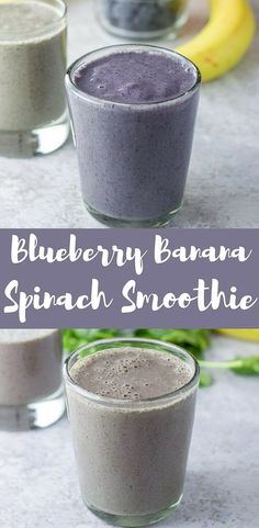 #ad This blueberry banana spinach smoothie is so fun because I add Dr. Axe's Multi Collagen which makes it even smoother! I love my smoothies with spinach and hubby loves it without! Which is your favorite? This smoothie is both tasty and fun to drink! #ancientnutrition #collagen #smoothie #blueberrybananasmoothie #dishesdelish #dishesdelishrecipes https://ddel.co/bbss via @dishesdelish