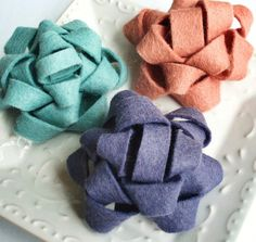 Bows made of felt.