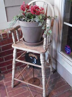 Hit flea markets and antique stores for unique pieces that will set our front porch looking wonderful from the road as well as up close and personal.    front porch