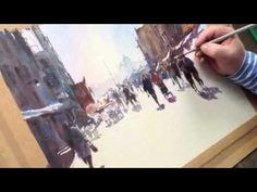 (PART TWO) of Watercolour street scene in Venice. Trevor Talks to friend and fellow artist Mike Arnold about this painting. Together with a couple of Origina...
