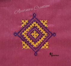 Kutch Work Designs, Colorful Rangoli Designs, Hand Embroidery Videos