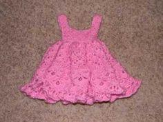 Vestido Girl a Crochet talla 1 año - YouTube