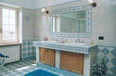 cerasa #bagno in muratura Cerasa, I Piastrellati: Gusto #country per ...
