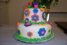 Birthday Cake With Marzipan weird colors