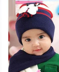 Baby Infant Boy Girl Bee Beanie Hat Cap Scarf Warm Navy Crochet Baby Hats  Free Pattern 49da02ace29b