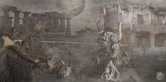 """Percussit Dominus omne primogenitum | Rocambolesca Cefaloplastica d'Isacco"" [Liturgia prima: l'Animale - slab2/3] 2013 © [Lo Mazareno] ominimedial-digitalfrottage-photomanipulation [proportions 2:1]#mixmedia #photomanipulation #glitch #photography #drawing #graphic #painting #digitalart #omnimedia #inkjet #fresco #esotericism #mythology #symbolism #apocalypse #abandoned #pollution #Caravaggio #Bernini #initiation #ritual #epos #alchemy #science #Mediterranean #beast #man #god #soul #love…"