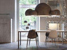 Direct light aluminium chandelier ILRE by Opinion Ciatti | design Lapo Ciatti