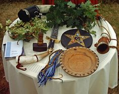 The Altar, Clym & Val's Handfasting by Thorskegga, via Flickr