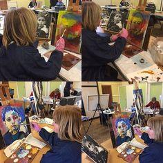 Painting my grandson , Portrait sketch #portraite #oilsketch #love #grandchildren #instamood #instaart #alaprimera #contemporaryart #art #artist #oilonboard #نوه #عشق #عشقم😍 #artoftheday #beauty