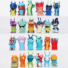 Livraison gratuite mignon New Cartoon Movie Slugterra : les mondes souterrains figurines jouets PVC poupées cadeau pour les enfants de détail 1 conjunto