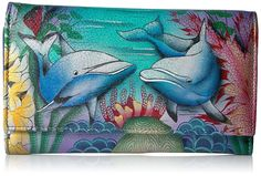 Anuschka Checkbook Wallet/Clutchdolphin World *** Continue to the product at the image link.