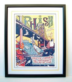 Framed Phish poster with an open v-groove. That's one of my designs.