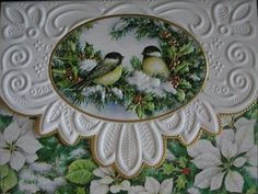 Carol Wilson Note Cards Stationery Christmas Chickadees Winter Holly Stationery