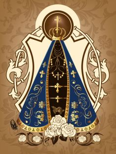 NS Aparecida by OradiaNCPorciuncula on DeviantArt Divine Mother, Mother Mary, Tattoo Pai E Mae, Arte Quilling, Images Of Mary, Lady Of Fatima, Pattern Art, Art Patterns, Virgin Mary