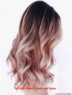 Ombre Hair Looks That Diversify Common Brown And Blonde Ombre Hair - Haare Stylen Blond Rose, Blond Ombre, Ombre Hair Color, Hair Color Balayage, Blonde Color, Ombre Rose, Hair Colour, Hair Color Ideas For Brunettes Balayage, Hair Length Chart