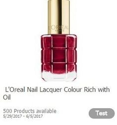Toluna: Free L'Oreal Nail Lacquer :: http://www.heyitsfree.net/toluna-free-loreal-nail-lacquer/