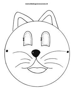 Maschere carnevale da stampare e colorare cose da for Maschere da colorare animali