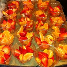 Fresh fruit cup for preschool snack time.