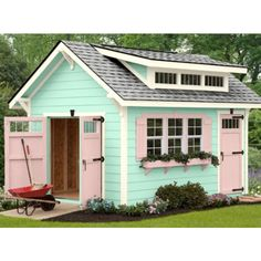 Every thought about how to house those extra items and de-clutter the garden? Building a shed is a popular solution for creating storage space outside the house. Whether you are thinking about having a go and building a shed yourself Shed Storage, Built In Storage, Cabana, Shed Builders, Shed Cabin, Art Shed, Shed Decor, Sheds For Sale, Backyard Sheds