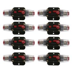 Car Audio 80/80-Amp Circuit Breaker Manual Reset Switch Agu Fuse Holder Auto Replacement Parts Fuses