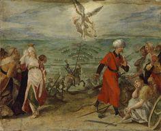 1596.Battle of Keresztes- battle of the Long Turkish War,between the Ottoman Empire and Austria-Hungary.The allegory of the battle of Mezőkeresztes.1603-1604. Museum of Fine Arts (Budapest) Hans von Aachen (1552-1615)