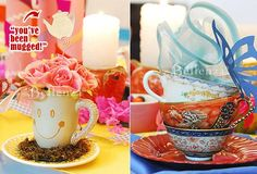 Mad Hatter theme for a bridal shower tea party