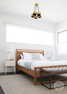 "The Beach House, Part 2 - This <a href=""http://www.crateandbarrel.com/linea-bed/f34490"" target=""_blank"">bed</a> was one of my favorite finds. If you've ever searched for an affordable modern wooden bed, you'll know it's not easy to find one that isn't $150,000. And it kind of makes me want a new bed to replace <a href=""http://hommemaker.com/2014/08/07/a-new-bedroom-gets-newer-with-some-new-newness/"" target=""_blank"">my new one</a>. by Homepolish Los Angeles ..."
