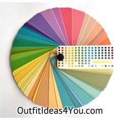 """This gorgeous color fan has60 colorsfrom the tonedspring color palette. Folds up into a perfect size for carrying in your purse for shopping: 2.25"""" x 1"""" x 1"""" Each color in the fan has on the back:   Color: the name of the color Temperature: Warm, Cool or Neutral Wardrobe"""