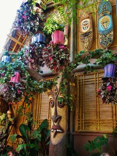 part of the Enchanted Tiki Room at Disneyland