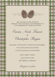 Mixbook Twin Pinecones Wedding Invitations