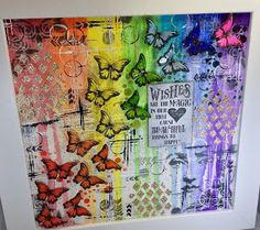 Isle of Crafty Creations: Altered Eclectics: A Rainbow of Butterflies
