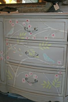 Handpainted Chinoiserie style dresser by BonVivantHOME on Etsy, $1250.00