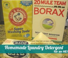 homemade laundry detergent powder