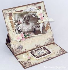 Candice paper world . Vintage Tags, Vintage Paper, Vintage Ladies, Paper Art, Paper Crafts, Baby Frame, Shabby Chic Cards, Easel Cards, Mothers Day Cards